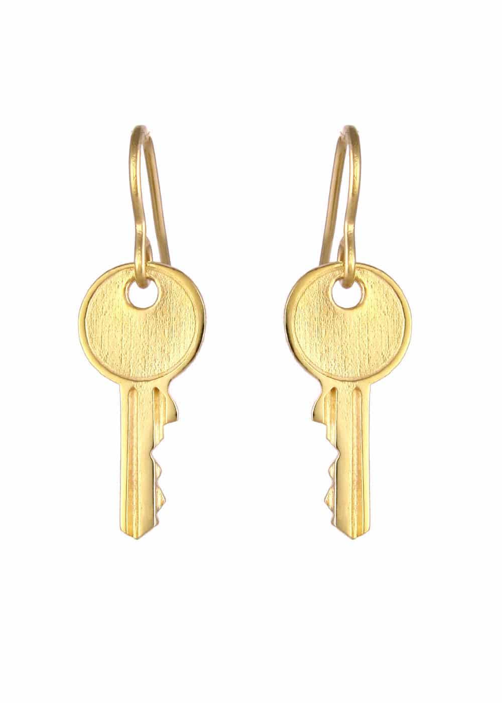 d05390106 Key Earrings Gold   Silver & gold plated pendants   Artisan jewellery