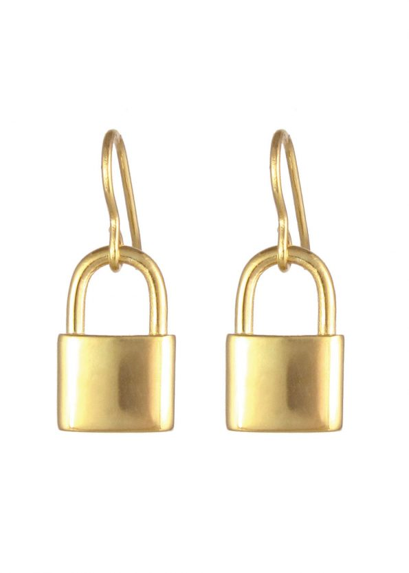 Padlock Earrings Gold