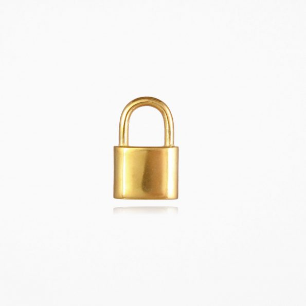 Small Padlock Pendant Gold Vermeil