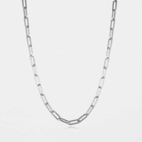 Square Trace Chain Silver