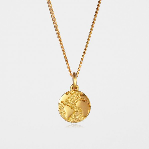 Earth Necklace Gold Vermeil