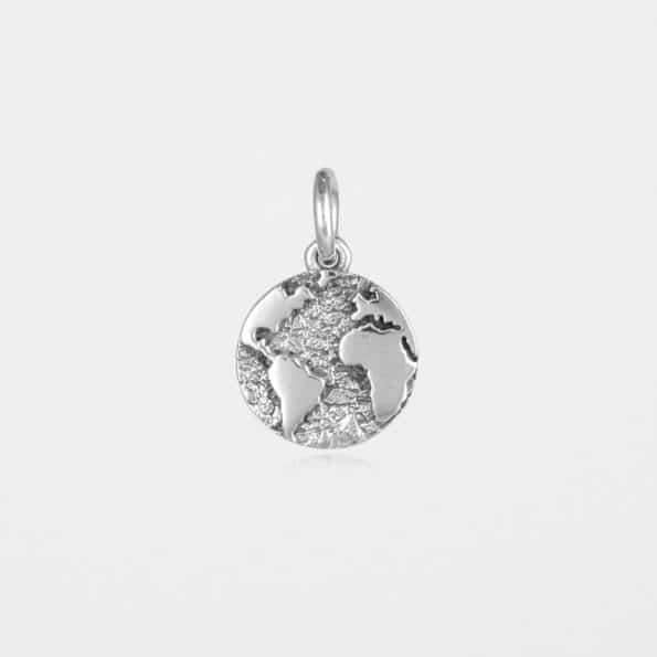 Earth Pendant Silver