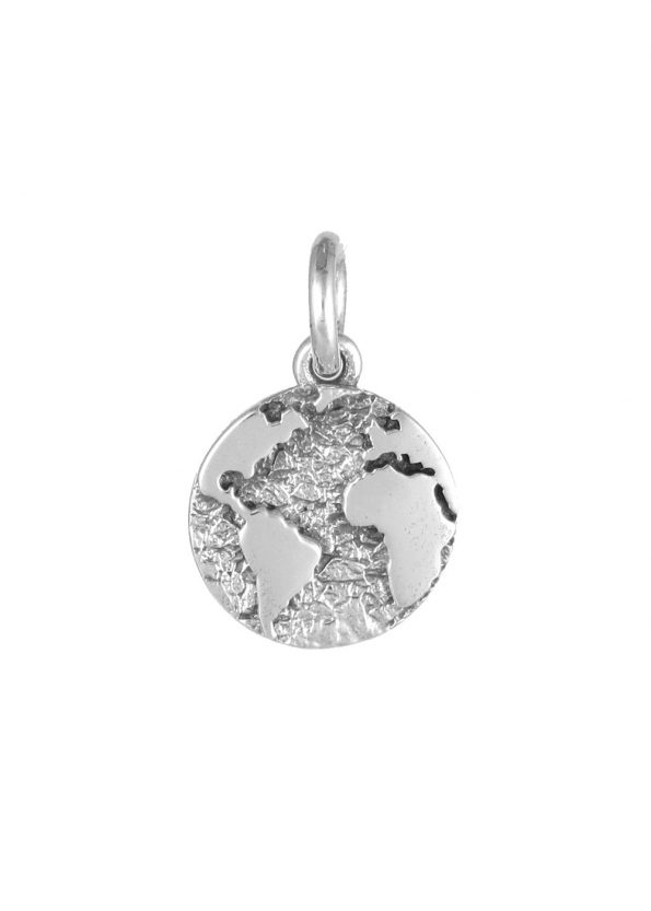 Earth Pendant Sterling Silver