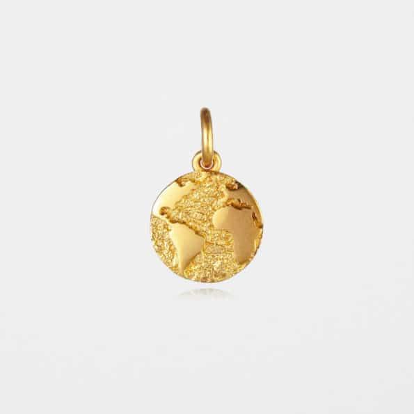 Earth Pendant Gold Vermeil