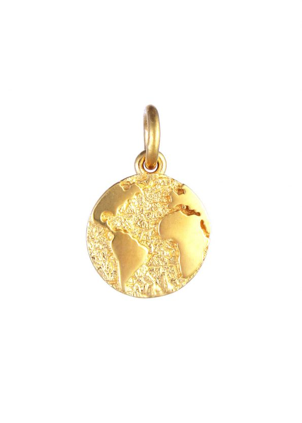 Earth Pendant Gold Vermeil