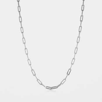 Fine Square Trace Chain Silver