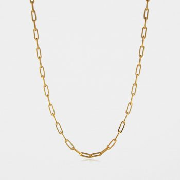 Fine Square Trace Chain Gold Vermeil