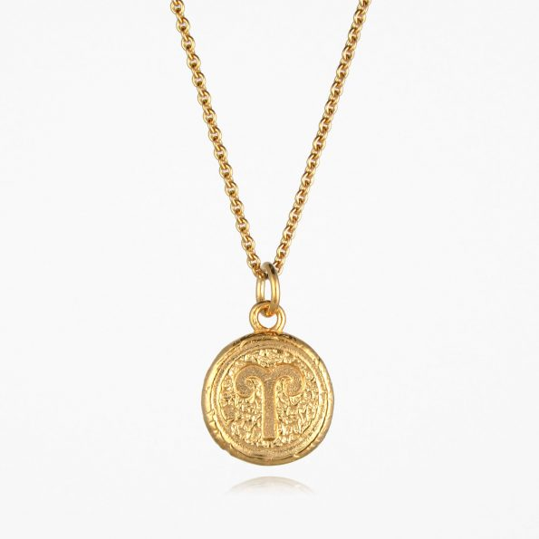 Aries Star Sign Necklace Gold Vermeil