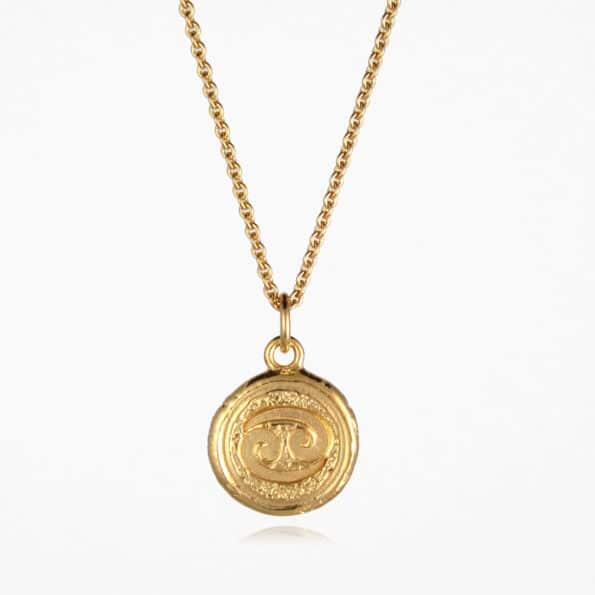 Cancer Star Sign Necklace Gold Vermeil