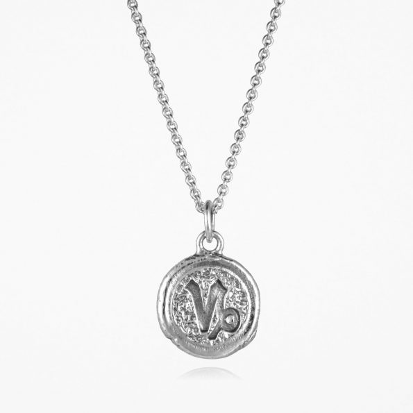 Capricorn Star Sign Necklace Silver
