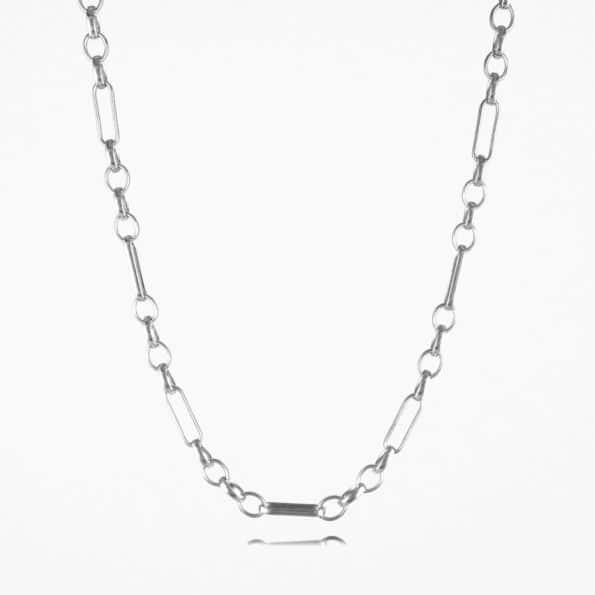 Oval Figaro Chain Silver