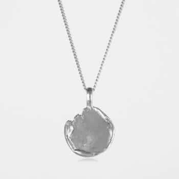 Freeform Disc Necklace Silver