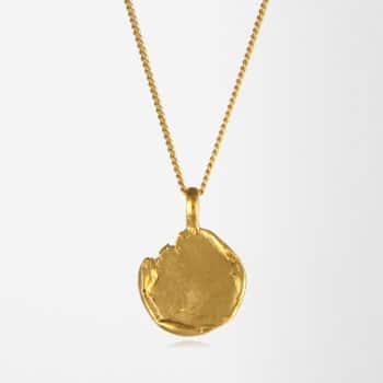Freeform Disc Necklace Gold Vermeil