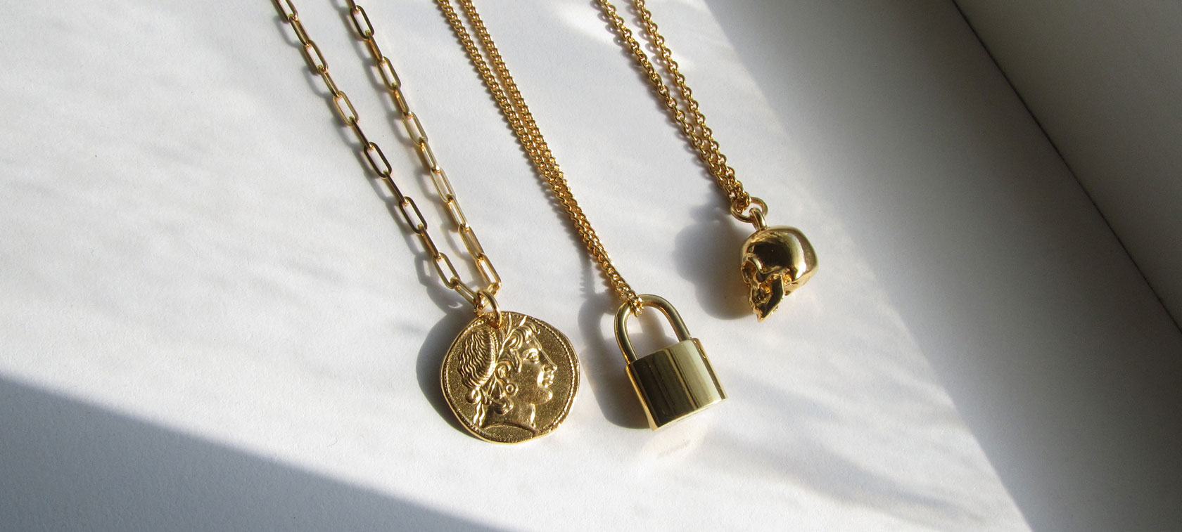 BANNER-APRIL-2020 Figaro Chain T Bar Necklace Gold Vermeil
