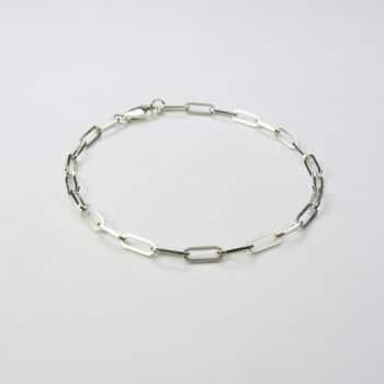Square Trace Bracelet Silver
