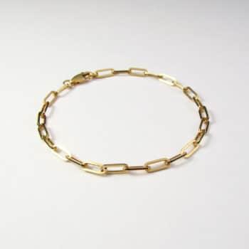 Square Trace Bracelet Gold Vermeil