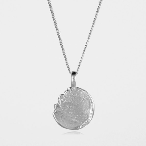 Freeform Disc Necklace #2 Silver