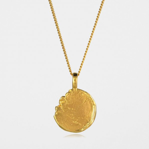 Freeform Disc Necklace #2 Gold Vermeil