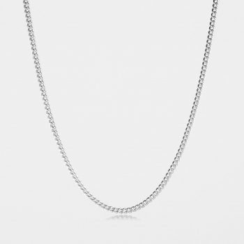 Heavy Curb Chain Sterling Silver