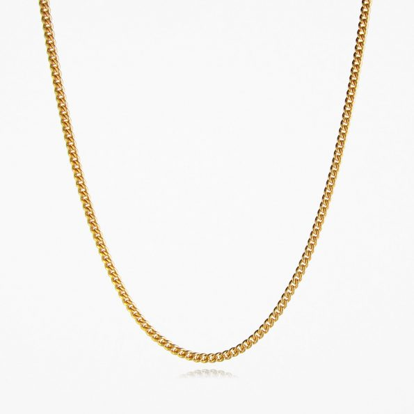 Heavy Curb Chain Gold Vermeil