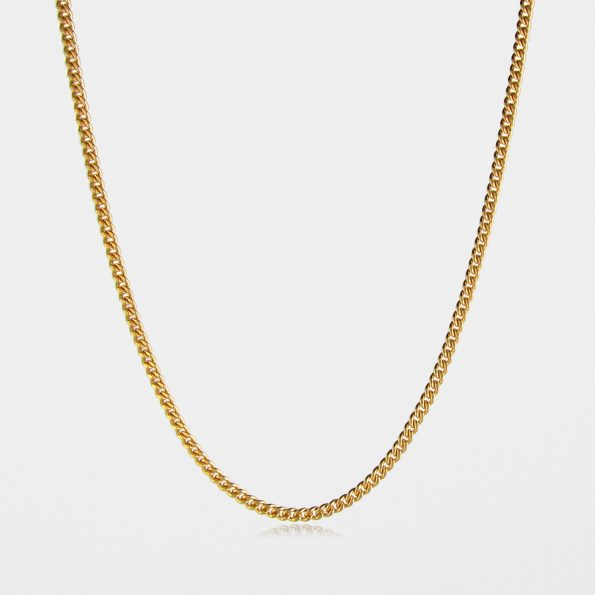 Heavy Curb Chain Gold Vermeil