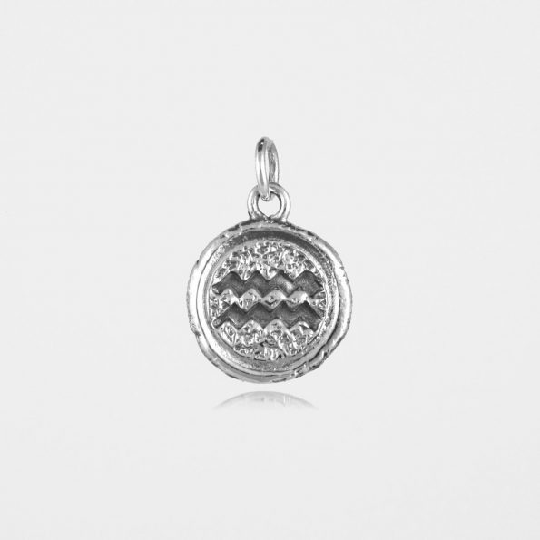 Aquarius Star Sign Pendant Sterling Silver