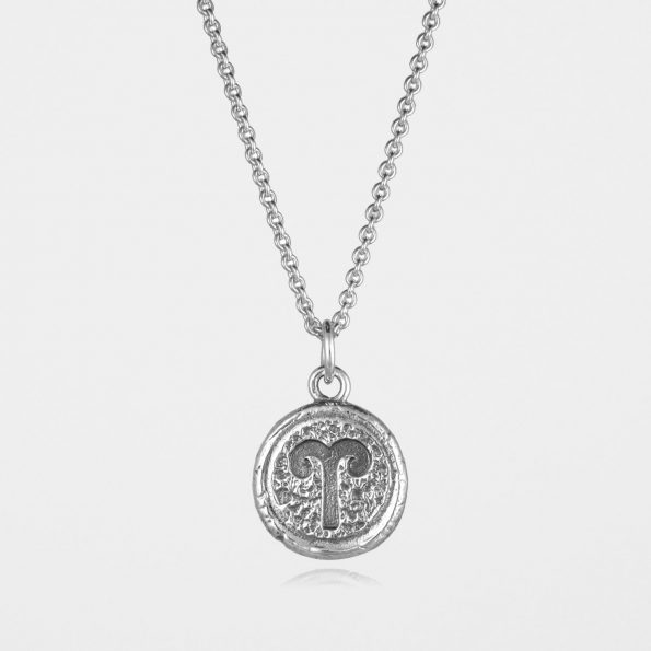 Aries Star Sign Necklace Silver
