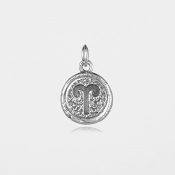 Aries Star Sign Pendant Silver