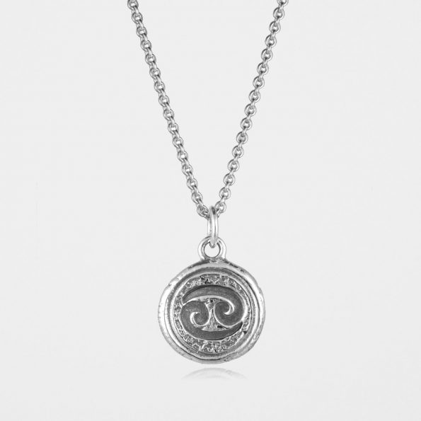 Cancer Star Sign Necklace Silver