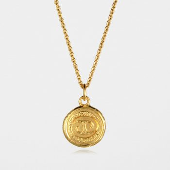 Cancer Star Sign Necklace Gold Vermeil