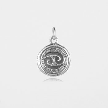 Cancer Star Sign Pendant Silver