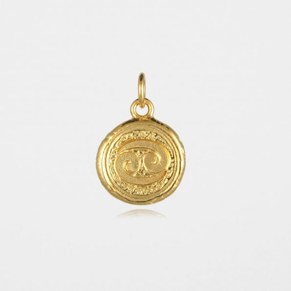 Cancer Star Sign Pendant Gold Vermeil
