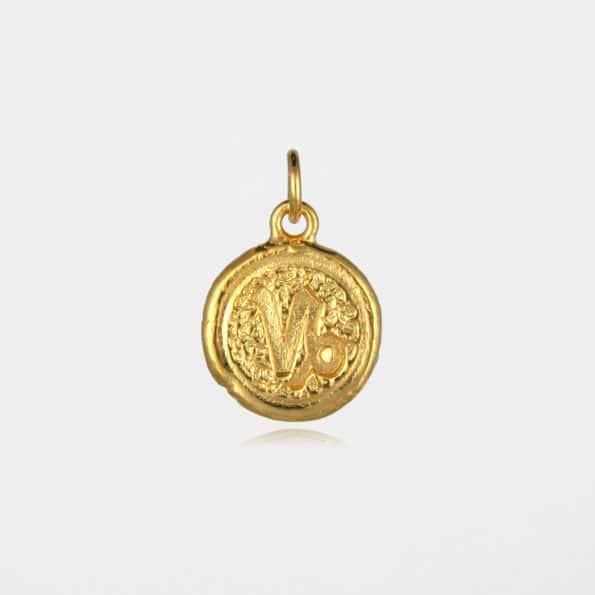 Capricorn Star Sign Pendant Gold Vermeil