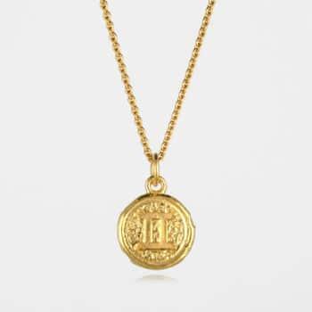 Gemini Star Sign Necklace Gold Vermeil