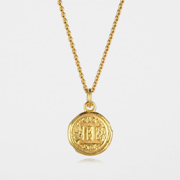Gemini Star Sign Necklace Gold Vermeil