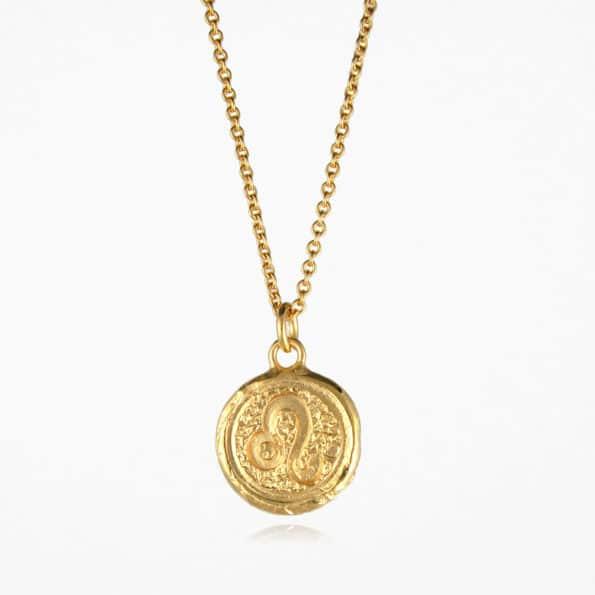 Leo Star Sign Necklace Gold Vermeil