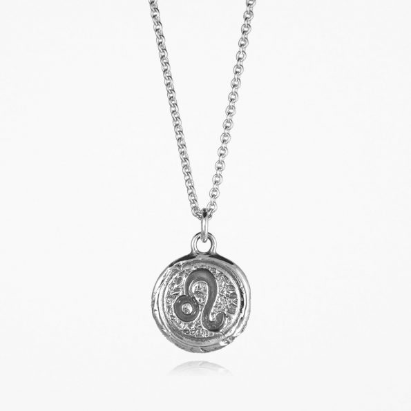 Leo Star Sign Necklace Silver