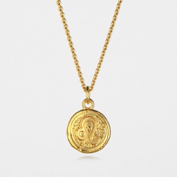 Leo Star Sign Necklace Gold Vermeil
