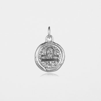 Libra Star Sign Pendant Silver