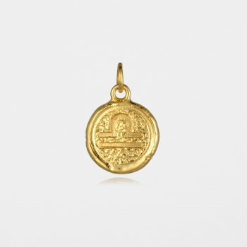 Libra Star Sign Pendant Gold Vermeil