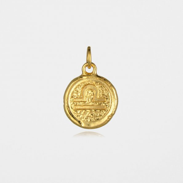 Libra Star Sign Pendant Gold Vermeil