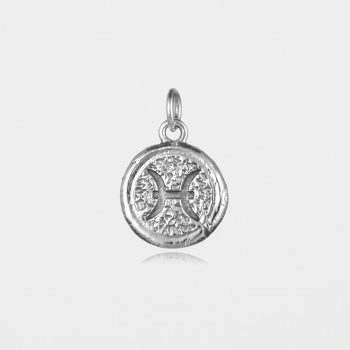 Pisces Star Sign Pendant Silver