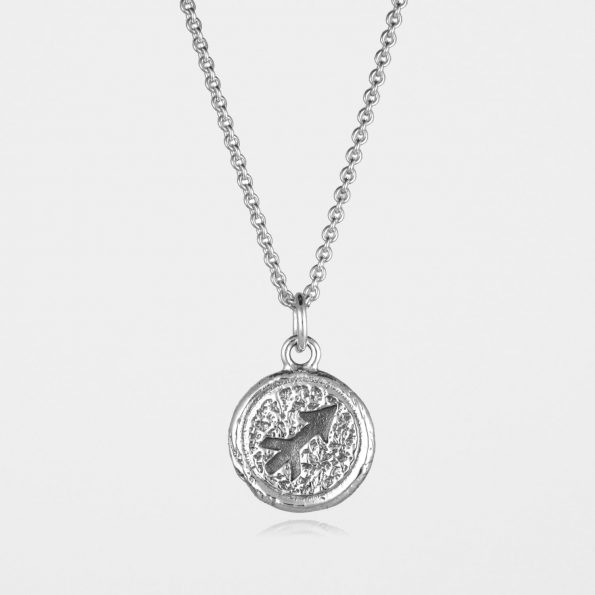 Sagittarius Star Sign Necklace Silver