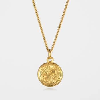 Sagittarius Star Sign Necklace Gold Vermeil
