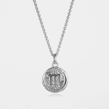 Scorpio Star Sign Necklace Silver
