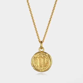 Scorpio Star Sign Necklace Gold Vermeil