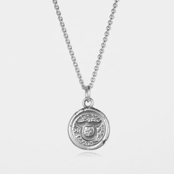 Taurus Star Sign Necklace Silver