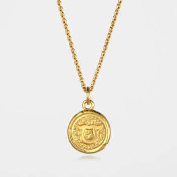Taurus Star Sign Necklace Gold Vermeil