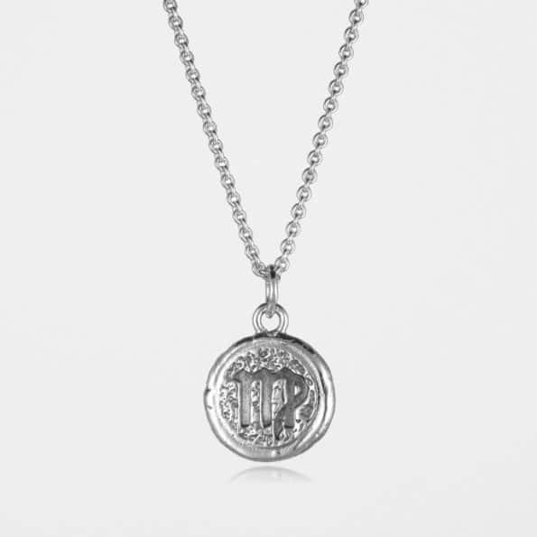 Virgo Star Sign Necklace Silver