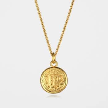 Virgo Star Sign Necklace Gold Vermeil